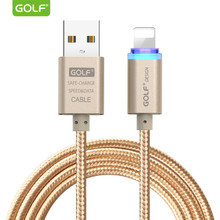 GOLF LED Display Lighting USB Charging Cable for iPhone 7 8 Plus X Fast Charger Phone USB Data Sync Cable for iPhone 6 6S 5S 5 9(China)