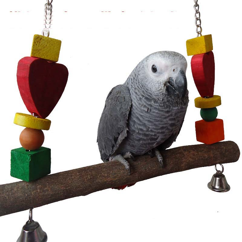 Small Toy Parrots : Parrot bird macaw swing wooden stands toys small medium