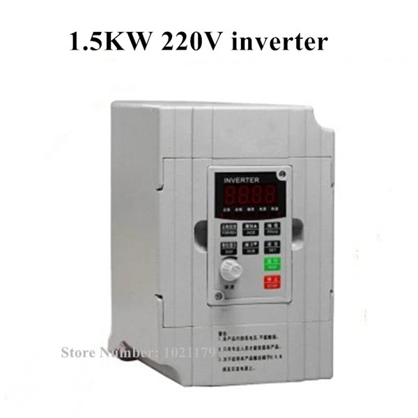 1.5KW CNC Spindle converter AC 220V 1 Phase CNC Router Frequency Converter Air Water Cooling Spindle Converter for DIY CNC 220v 1 5kw cnc spindle motor converter ac 220v 50 60hz 7a 1 phase cnc router spindle frequency inverter for engraving machine