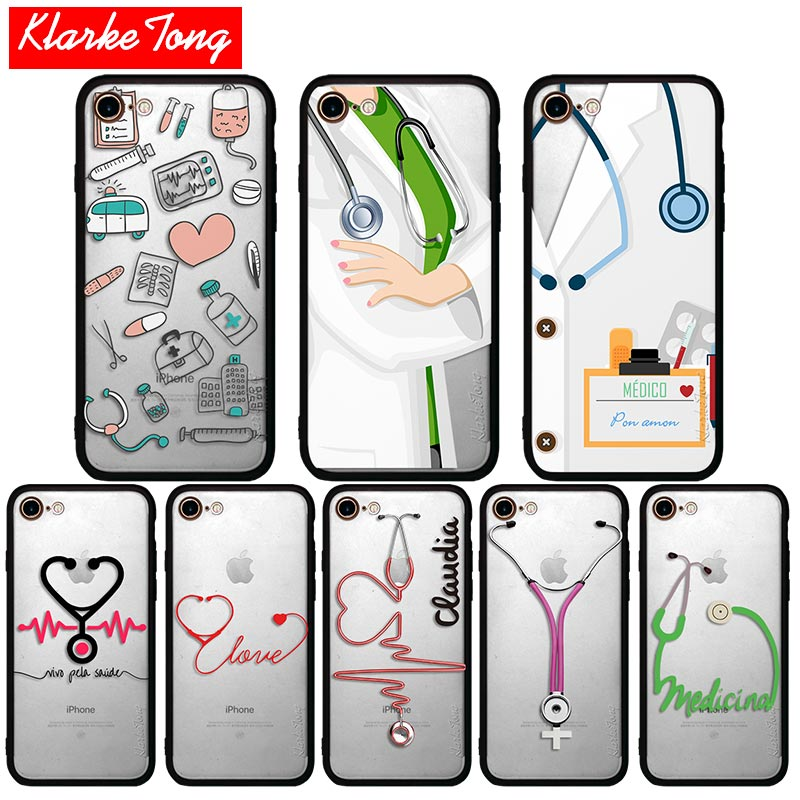 Klarketong Love Heart Medical Doctor Who Phone Cases For Iphone 7 6 6s Plus 5 5s Se Hybrid Silicone Matte Hard Protective Cover Finely Processed Phone Bags & Cases