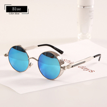 Pop Age Vintage Metal Sunglasses Steampunk Men Women Fashion Glasses Brand Designer Retro Gothic Sun Gafas de sol Shades