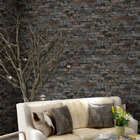 Vinyl Embossed Brick Wallpaper 3D Roll Textured For Living Room Stone Effect Wall Papers Home Decor