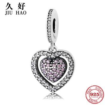 0f1a8af13d05 WOSTU de alta calidad Real 925 plata esterlina rojo cereza colgante  encantos fit Original pulsera de las mujeres collar de joyería 925 CQC784