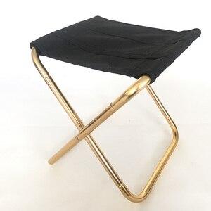 Image 3 - Hafif Oxford kumaş açık sandalye taşınabilir katlanır tabure kamp katlanabilir piknik sandalye çantası 7075 alüminyum katlanır tabure