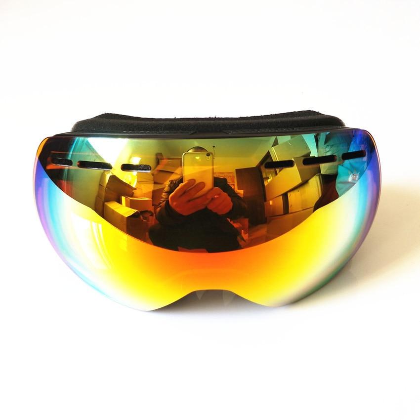 Prix pour 2017 Vente Chaude Nouvelle Marque Ski Lunettes Double Lentille UV400 Anti-Brouillard Grand Masque de Ski Lunettes de Ski Hommes Femmes Neige Snowboard lunettes