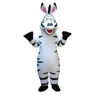 High quality adult size in Madagascar Zebra Mascot Costume Madagascar Marty Mascot Costume With Fan & Helmet Free Shipping