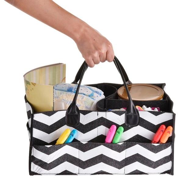 New Felt Car Nursery Diaper Bag Baby Shower Cosmetic Makeup Registry Must Haves