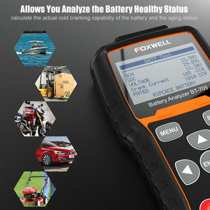Image 2 - Foxwell BT705 12V 24V Auto Batterie Tester System Diagnostic Analyzer Tool Regelmäßige Überflutet AGM GEL Typ Auto Lkw batterie Analyzer