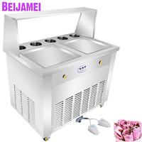 BEIJAMEI Stainless steel fried yogurt maker/commercial frozen yogurt fry ice cream /110v 220v frying pan machine for ice roll