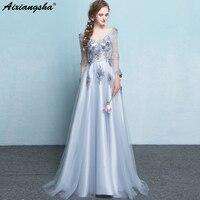 Lace Pearls Flowers V Neck Wedding Dress Plus Size ALine Zipper Vestido De Noiva Robe De Bariee Mariage Boda Wedding Gowns 2018