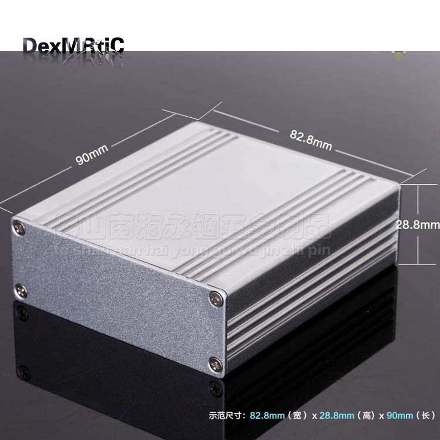 NEW Aluminum extrusion enclosure power shell project case box 82.8(3.26)X28.8(1.13)X90(3.54)mm DIY  wholesale diy hifi amplifier enclosure extrusion aluminum enclosure housing shell box 180 88 250 mm w h l