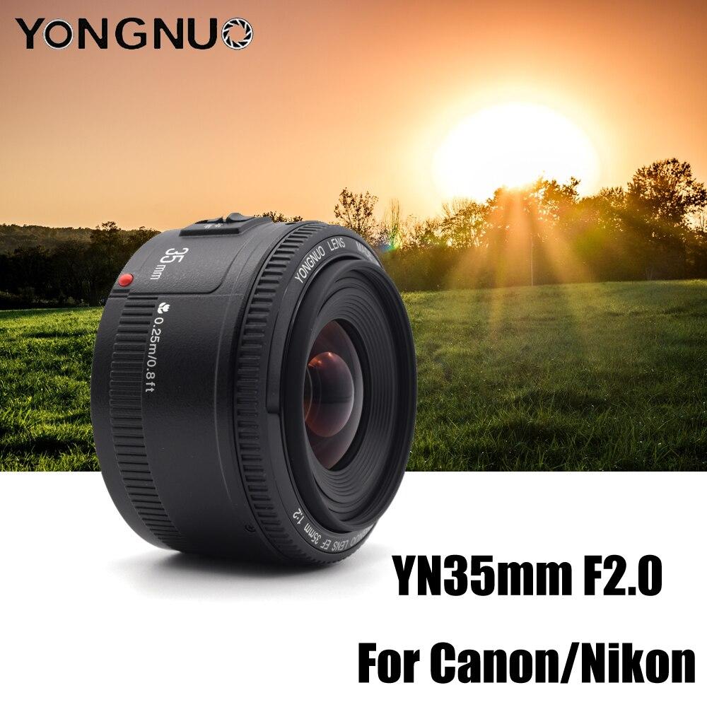 YN35mm F2 YONGNUO objectif de l'appareil photo pour Nikon Canon EOS YN35MM objectifs AF MF objectif grand Angle pour 600D 60D 5DII 5D 500D 400D 650D 6D