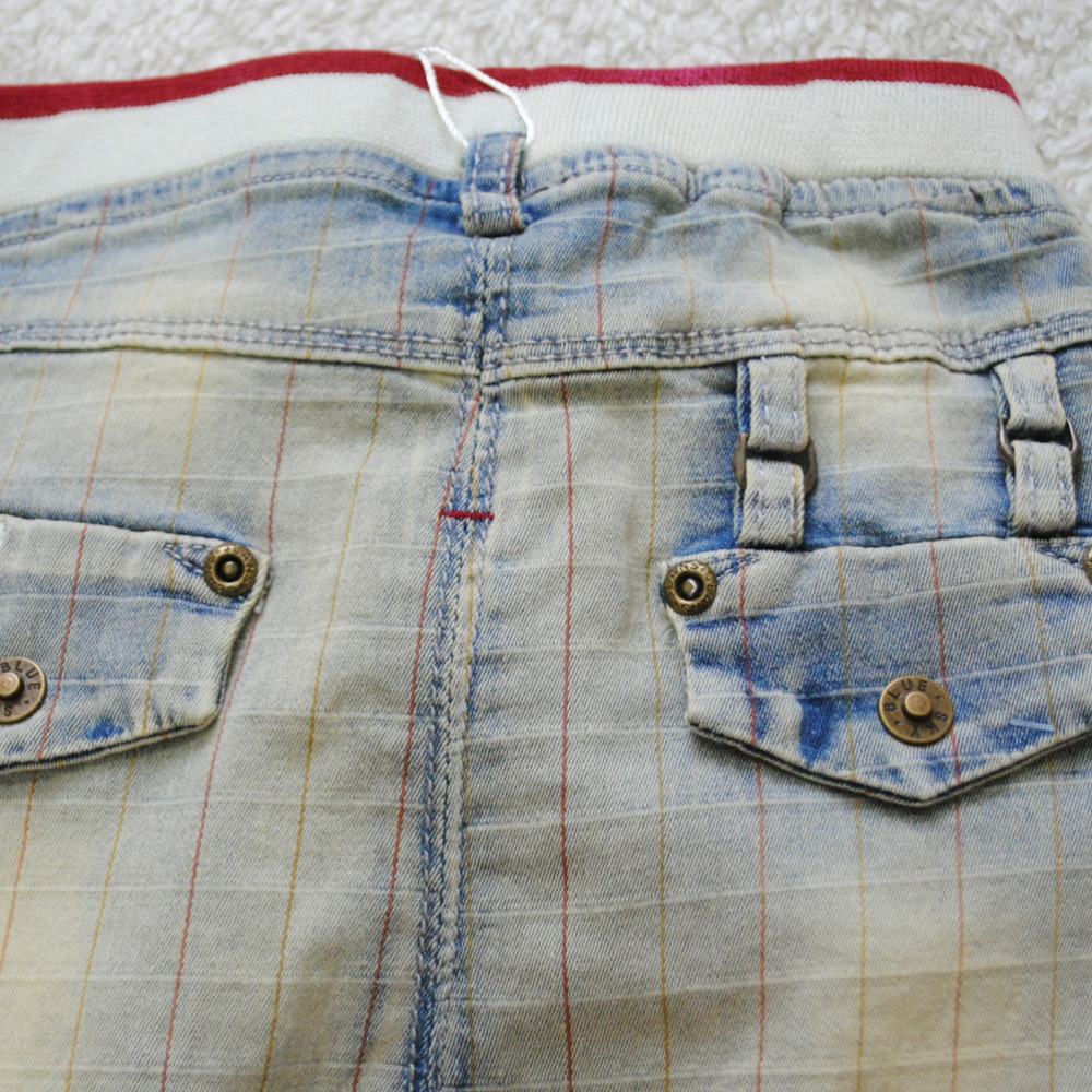 4034 summer little harem 50% length knee-length baby shorts summer soft denim boy jeans pants baby boy summer shorts plaid cool