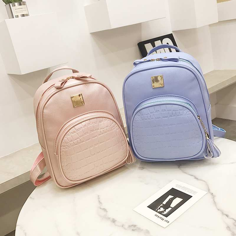 Nibesser Backpacks Woman Mini Leather Backpack Female Solid Color Bookbag Mochila Gift Backbag Backpack Schoolbag For Girls #6