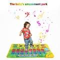 Venda quente Brinquedos Do Bebê Jogar Esteiras Tapete Alfabeto Musical Espanhola Tapete música Cobertor Crianças Aprendizagem Educacional Toy 74*49 CM