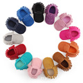 hot sale New pu Suede leather Tassel Bow Newborn Baby Toddler baby Moccasins Soft Bebe Non-slip Prewalker leather Baby Shoes