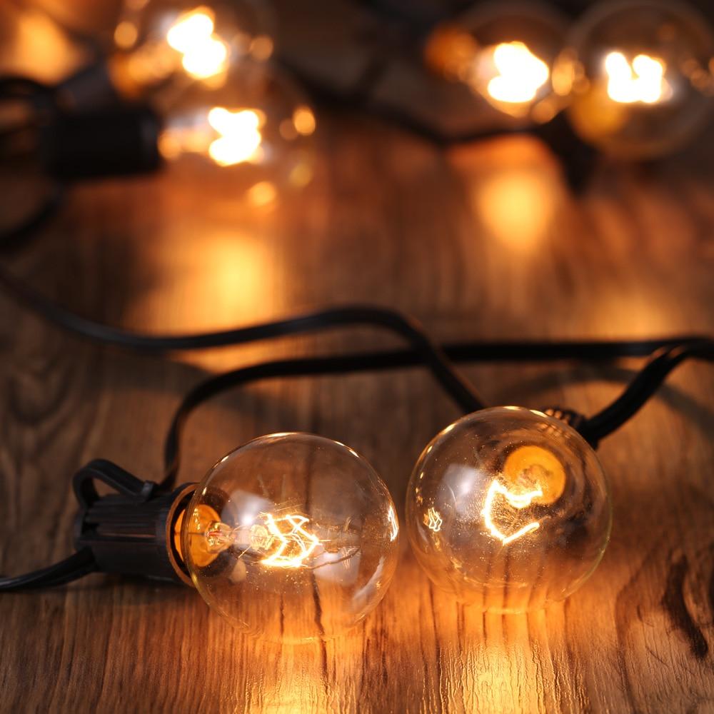 String light company incandescent light bulb pack of 25 - Tomshineled String Light Vde Listed Ac220v 175w 25ft E12 Base G40 Pack Of 25 Globe Bulbs Incandescent String Strip Light Patio