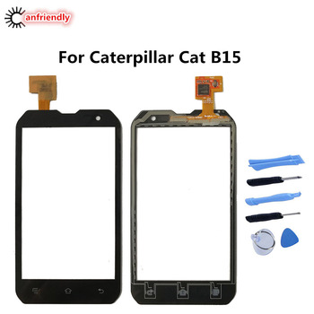 5PCS/Lot For Caterpillar Cat B15 B 15 Mobile Phone Touch Screen Glass Front Glass Digitizer Panel Lens Sensor For Cat B15 B 15