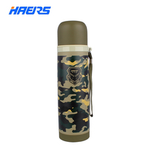Haers termo 500 ml de acero inoxidable termo aislantes botella de agua al aire libre amy verde fresco diseño forma hb-500fax-1 bala