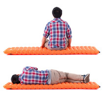 Фотография Outdoor Camping Manual Inflatable Mat Float Hand Press Dampproof Sleeping Pad Camping Accessories Free Shipping