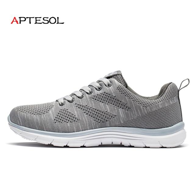 APTESOL Men s Mesh Running Shoes Breathable Outdoor Sport Shoes Men Light  Comfortable Sneakers Walking Athletic Jogging Footwear 2653755338d4