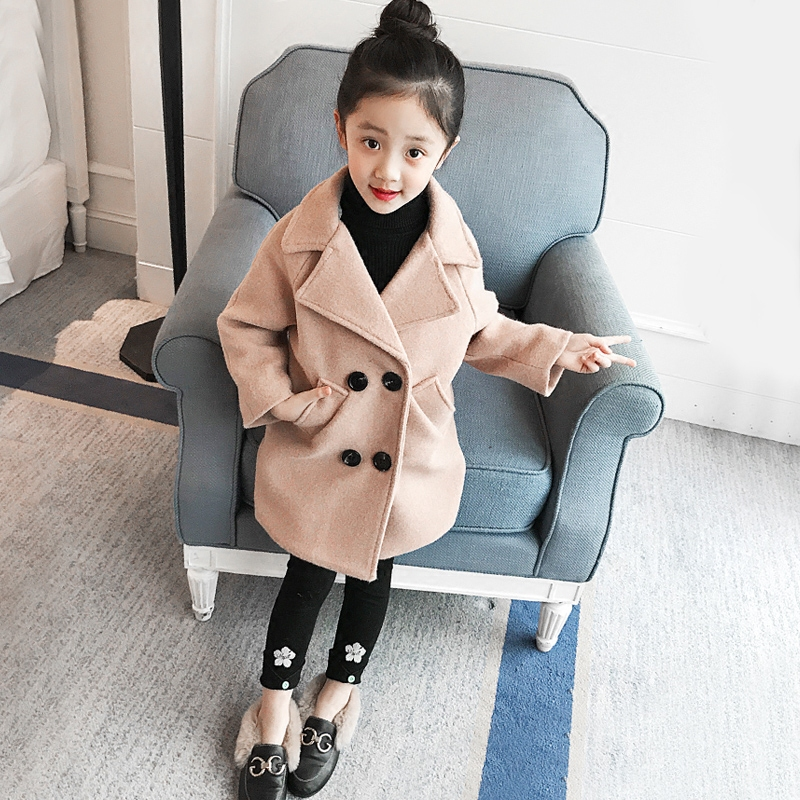 e96abac1a2ae 3 10Years Toddler Girls Winter Jacket Long Parkas Korean Style Children  Outwear Autumn Thick Coat Kids Girl Jackets Solid D210-in Down   Parkas  from Mother ...