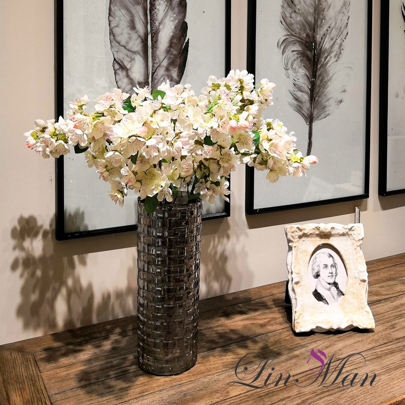 5pcs Lot 4colours Sakura Cherry Wedding Decoration Artificial Vine Flowers Bride Room Hanging Garland