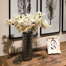 5pcs/lot 4Colours Sakura Cherry Wedding Decoration Artificial Vine Flowers Bride Room Hanging Garland