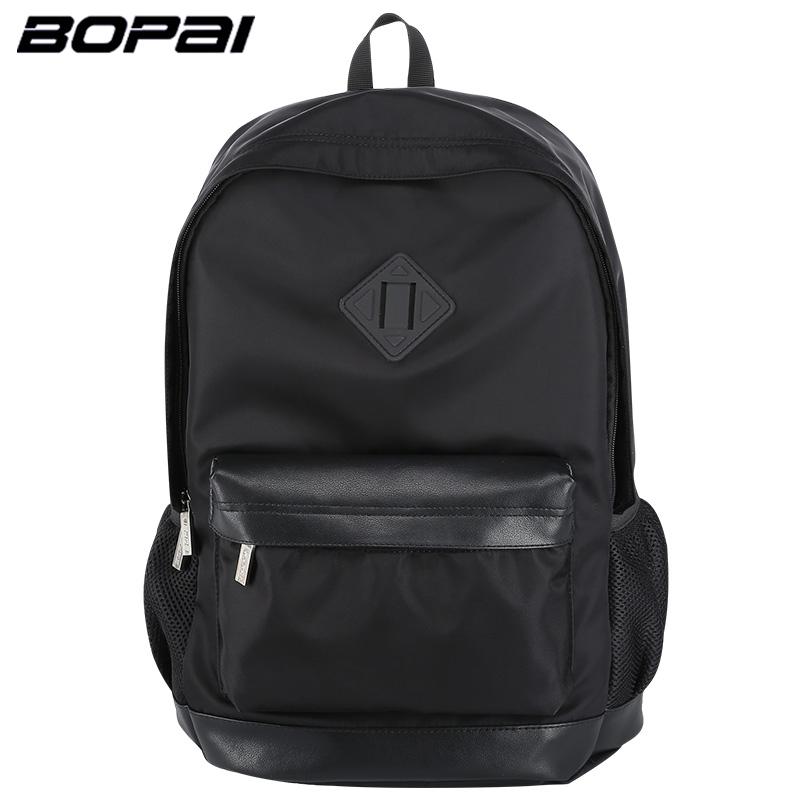 Prix pour Bopai hommes sac à dos d'affaires hommes voyage à dos lighweight noir cool sacs à dos pas cher petit sac à dos sacs étanche sac à dos