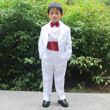 White Baby Boys Party / Wedding 5 Piece Formal Tuxedo