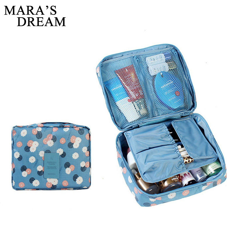 Mara's Dream Makeup Bag Women Cosmetic Bag Wash Toiletry Make Up Organizer Storage Travel Kit Bag Multifunction Ladies Bag Case