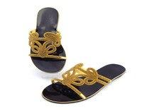 Yeni Varış Afrika Rhinestone Parti Ayakkabı Yaz Bayanlar Düşük Topuk Slippe Için Ayakkabı Pompalar Ücretsiz Kargo Toptan Fiyat ABS1113