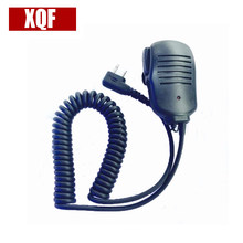 XQF 2 PIN Handheld Speaker Mic for ICOM IC-V8 Uniden Black IC-02 Radio Walkie Talkie(China)