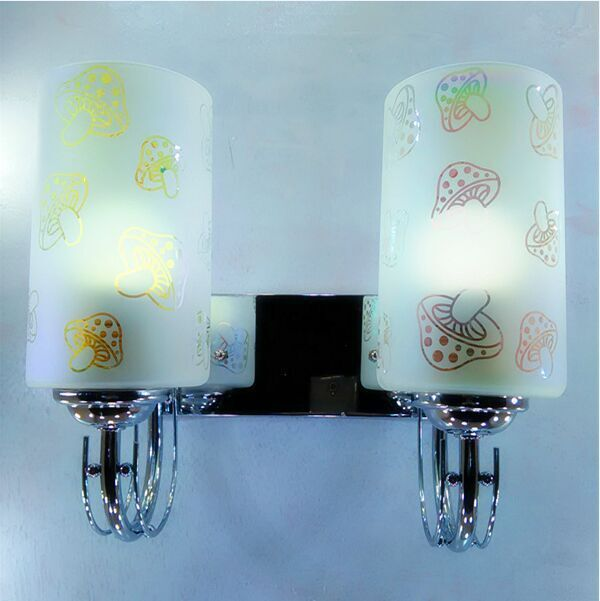 American country glass lamp, suitable for hotels, bedroom living room, hallway