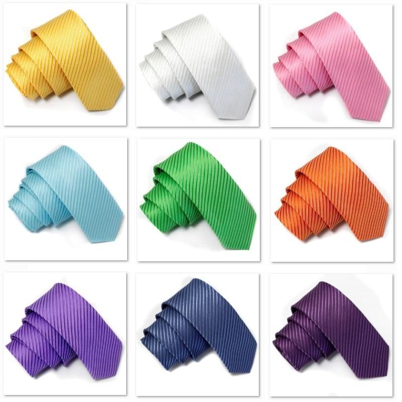 864508c0f سليم العلاقات العنق التعادل الرجال ربطة العنق مخطط الصلبة البوليستر 16  ألوان عالية الجودة
