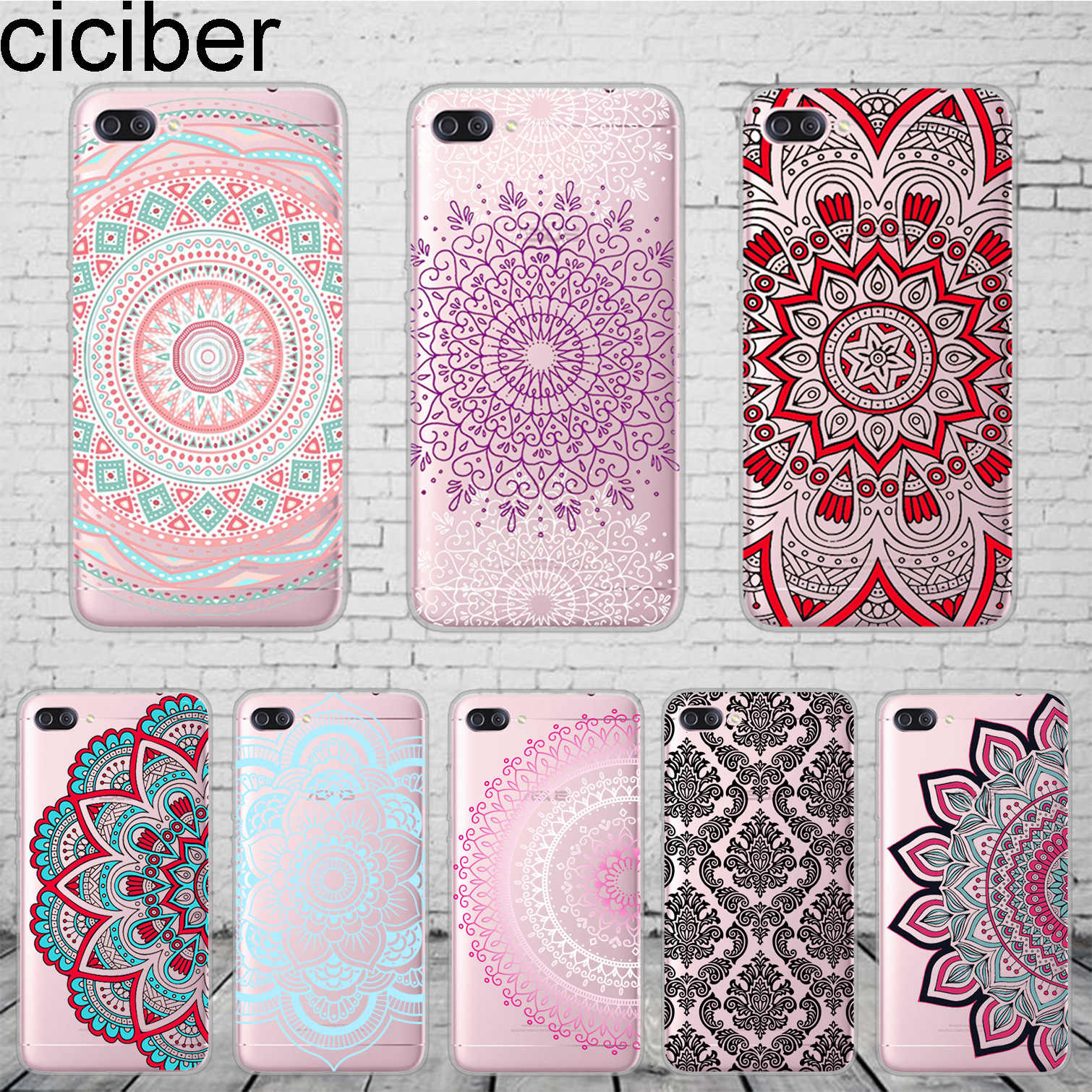 ciciber Perris Flower Pattern Cover For ASUS ZenFone 5 4 3 3S Max Pro Plus Laser Deluxe Selfie Z Q Lite Phone Case TPU Coque
