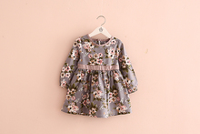 Manufacturers selling 2016 autumn new flower belt dresses of the girls