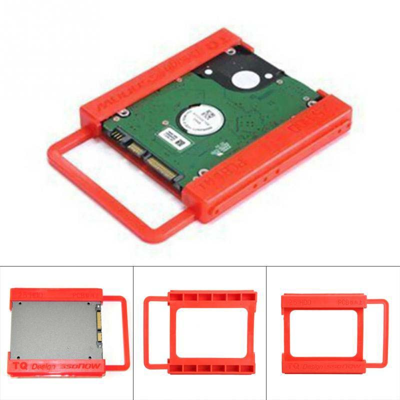 New Universal <font><b>2.5</b></font> to <font><b>3.5</b></font> inch <font><b>SSD</b></font> to HDD Plastics Adapter Mounting Bracket Hard Drive Holder for Computer <font><b>SSD</b></font> Bay Stand Dropship image