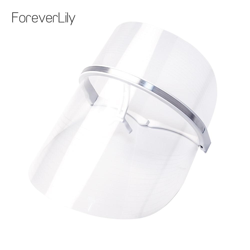 Foreverlily USB 2 Colors LED Mask Therapy Korean Face Beauty Photon LED Facial Mask Red Blue Light Rejuvenate Skin Care Machine