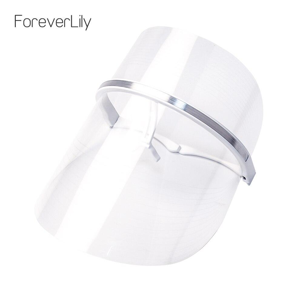 Foreverlily USB 2 Couleurs LED Masque Thérapie Coréen Visage Beauté Photon LED Masque Facial Rouge Bleu Lumière Rajeunir Soins de La Peau machine