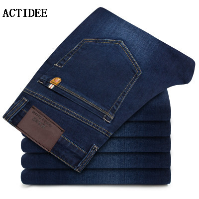 2017 new business jeans men elastic straight jeans long casual trousers denim pants men plus size 38 40 42 5z 2017 new designer korea men s jeans slim fit classic denim jeans pants straight trousers leg blue big size 30 34