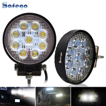 цена на 2pcs ATV 4inch 27W led work light lamp 12V LED tractor work lights bar spot Flood offroad off road 4X4 accessories car truck 24V