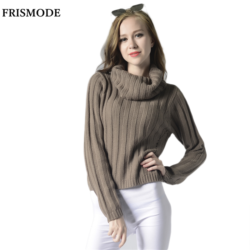 Female Chic Rib Loose Short Pullover Sweaters 2016 Autumn Winter ...