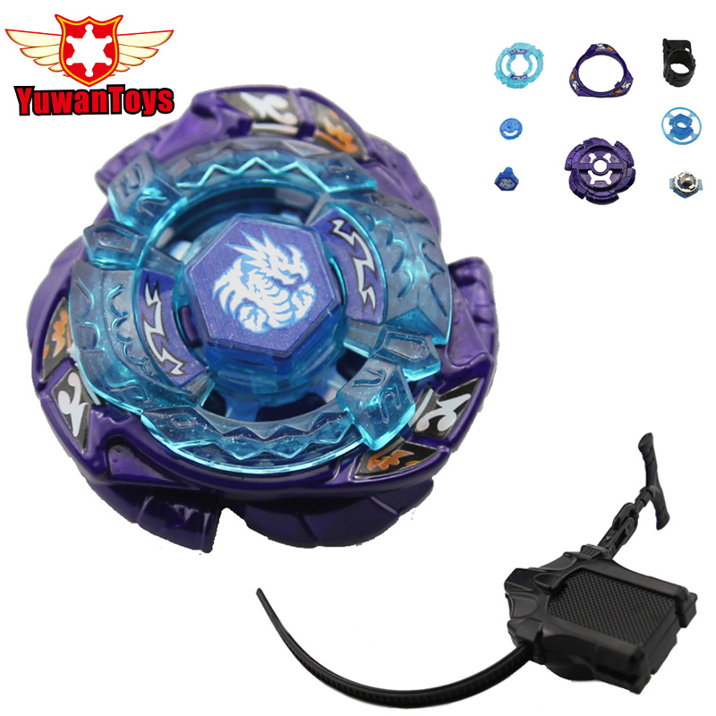 New Beyblade BB128 OMEGA DRAGONIS 85XF Spinning Top Metal Fury 4D Rapidity F S Launcher Gyro