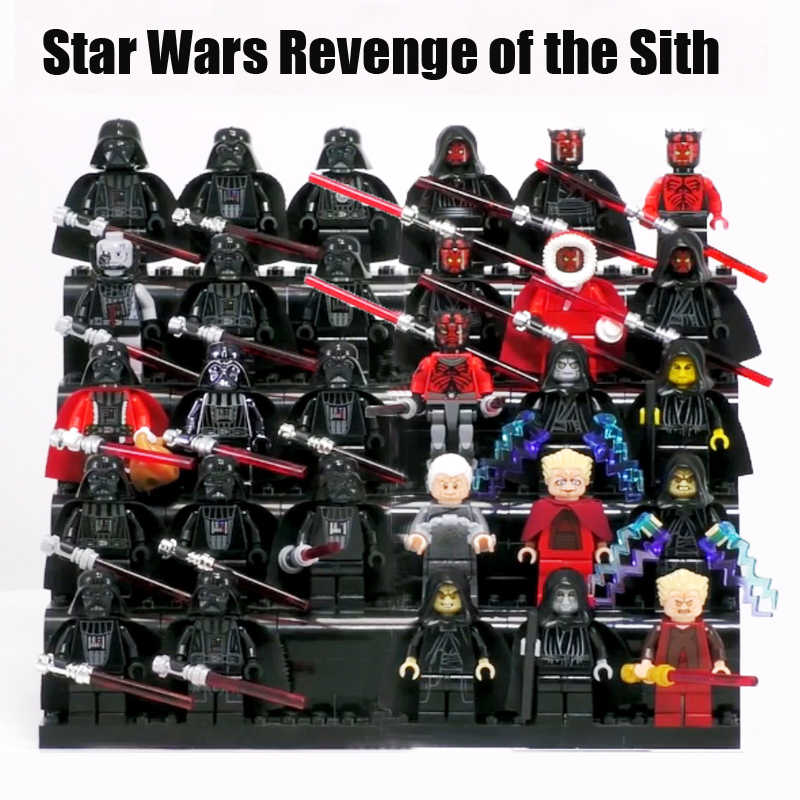 New Star Wars Sith Lord Darth vader Nihilus Darth Maul Dark Palpatine mini figures brick COMPATIBLE LEGOE blocks baby toys