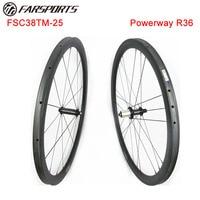 High Pro carbon wheelset 38mmx25mm tubular rims road bike wheels for racing Full carbon fiber chinese road wheels Farsports