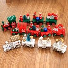 4 Piece Wooden Christmas Train