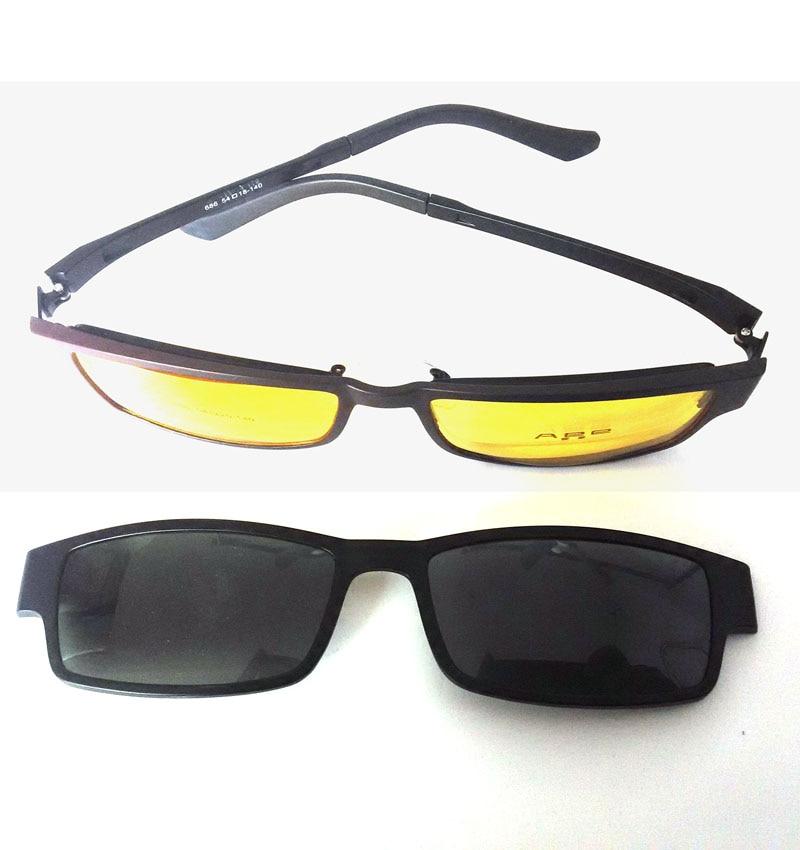 Neue brille rahmen magnet clip optischen rahmen + 2 polarisierte ...