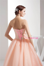Hot New Prom Dress Vestidos De 15 Anos Sweetheart Organza Vestidos de Debutant Floor Length Quinceanera Dresses