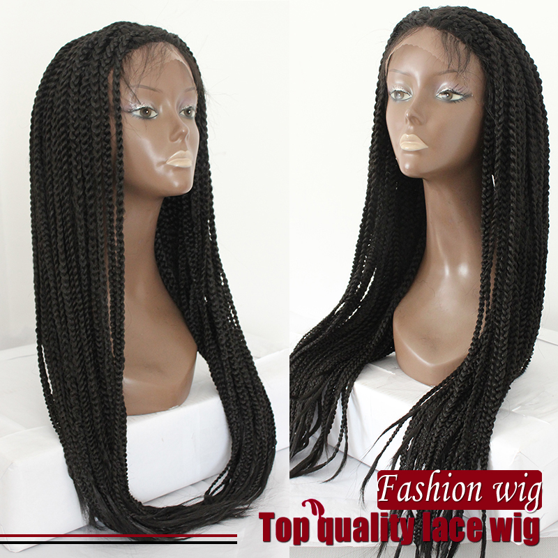 braided lace front wigs Box braide synthetic no shedding no tangle synthetic lace front wig for